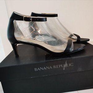 Banana Republic Bare Kitten Heel Sandals LE